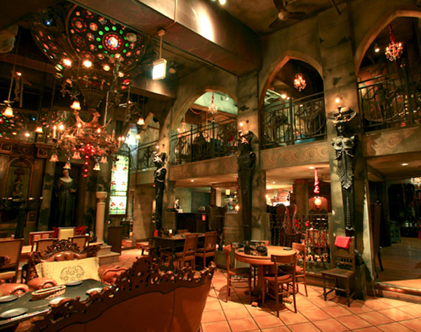 Goth Central for the cosplay crowd that prefers to drink amid stained glass and gargoyles.