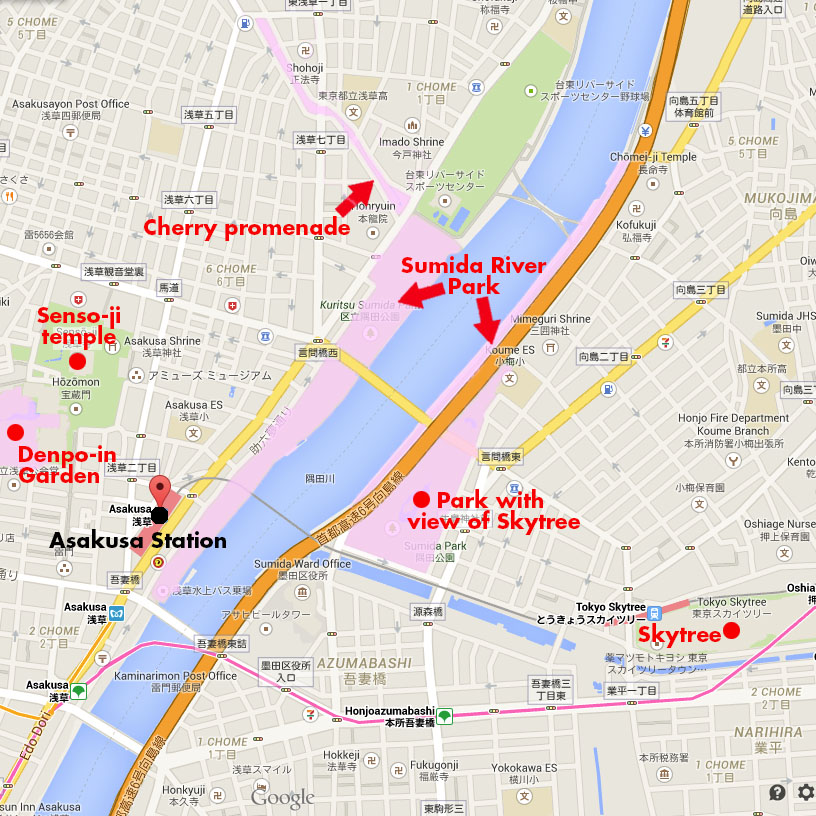 Asakusa Area Maps The Tokyo they leave out of the guidebooks