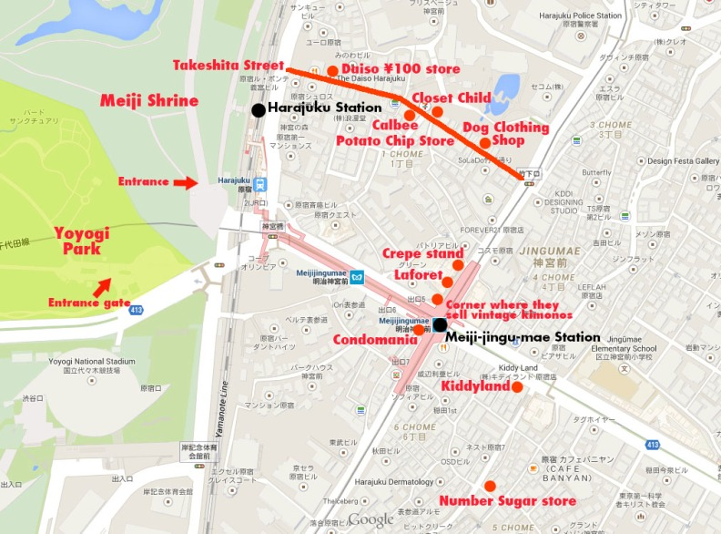 Harajuku Area Map The Tokyo They Leave Out Of The Guidebooks