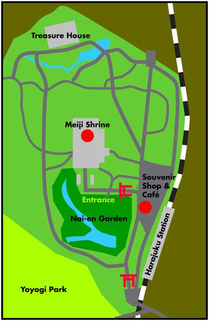 MeijiShrineMap