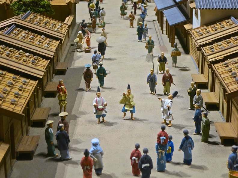 Instead of dull, dry, exhibits, they use full-scale rooms to show what life was like, and intricate models of town life that you could look at for hours, they are so amazing.