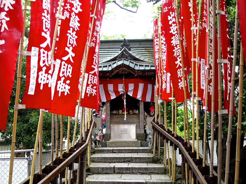 This inari fox shrine is one of the most charming of its sort I've ever seen.