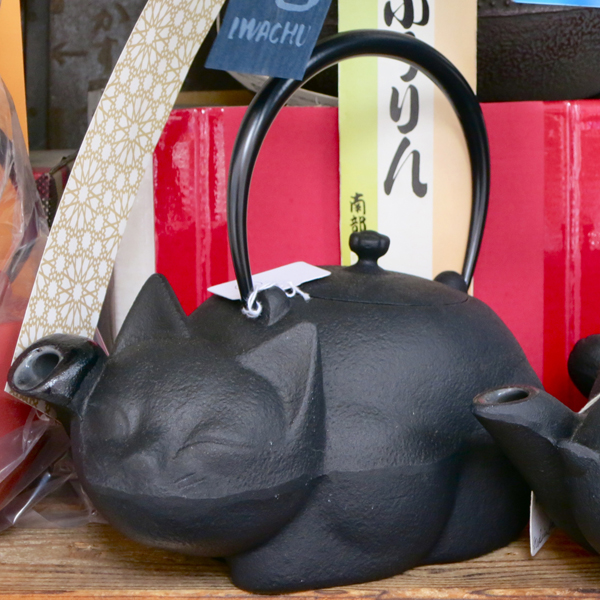You can find iron teapots of all sizes, including these nyantasic models.