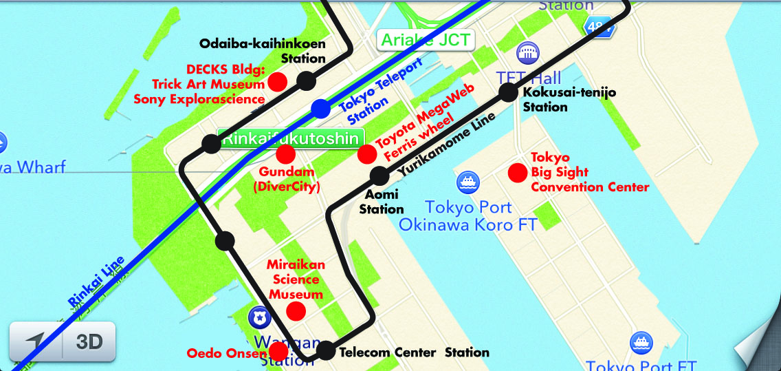 Odaiba Area Map Oedo Onsen Tips The Tokyo they leave out of the