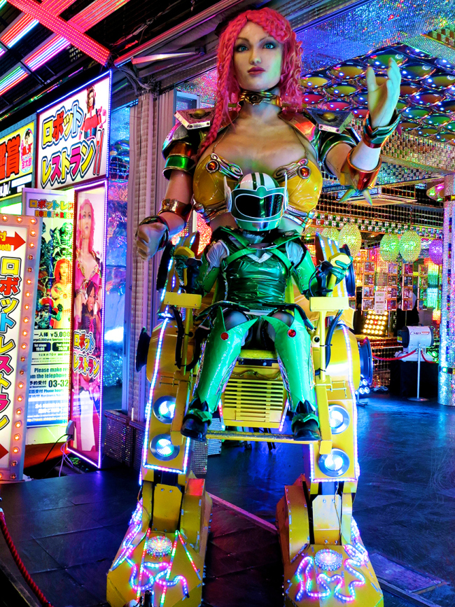 Robots, scantily-clad dancers, mechanical dinosaur battles, laser lights! There's something for everyone at the Robot Restaurant.