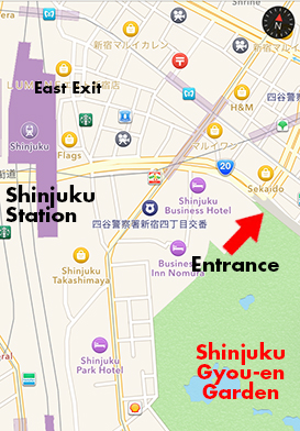 Shinjuku Area Map The Tokyo they leave out of the guidebooks
