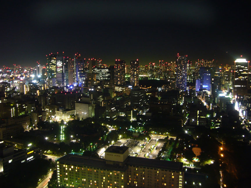 Day or night, we'll see a seriously beautiful 360 degree panoramic view from the top of Tokyo Tower.