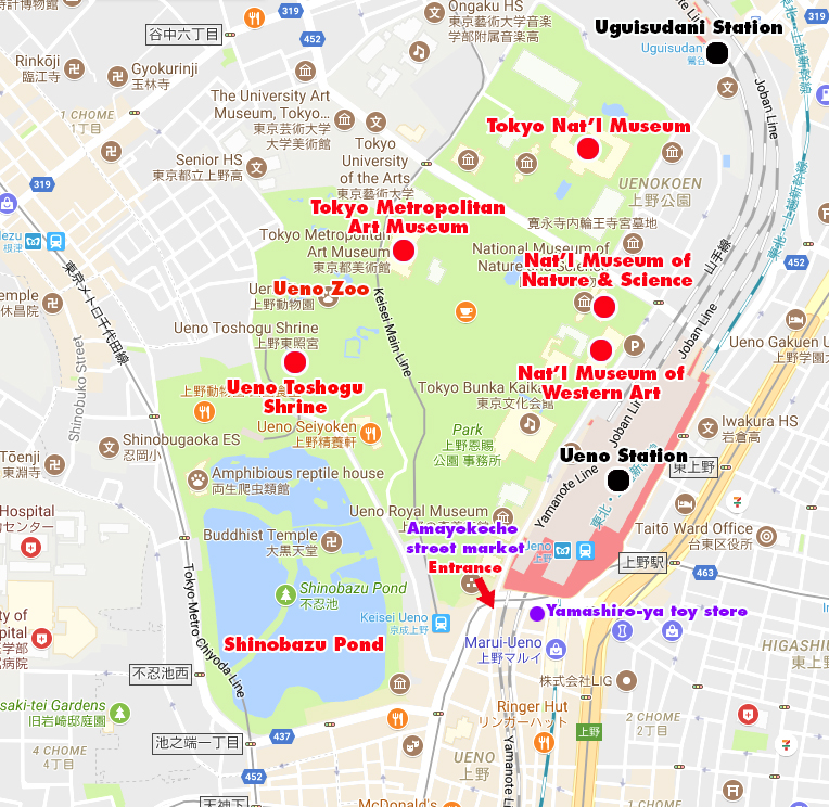 Ueno Area Map The Tokyo They Leave Out Of The Guidebooks