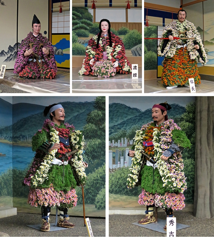 Each year, there are different historical figures, all made of...living chrysanthemums!