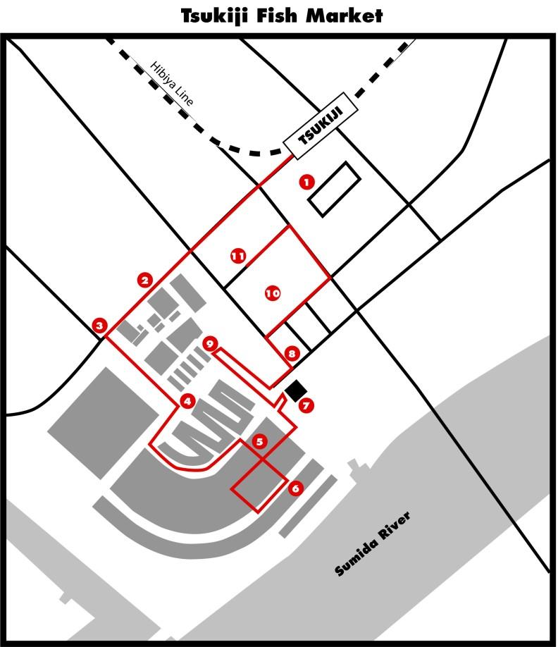 Tsukiji map