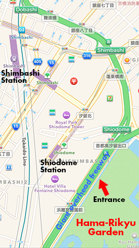 Hama-Rikyu Teien Garden Map – The Tokyo they leave out of ...