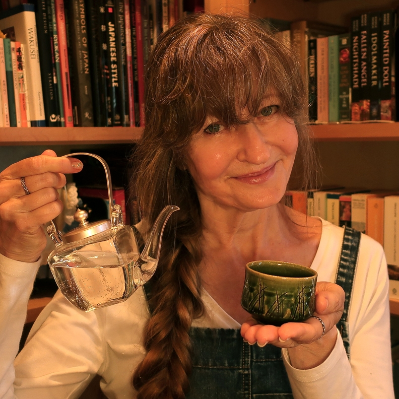 Author Jonelle Patrick with sake cup