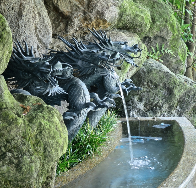 The three Shenzen dragons are said to grant wishes written on special paper you can buy for ¥100, if they dissolve completely in the fountain. See the ones floating on top of the water, near the end?