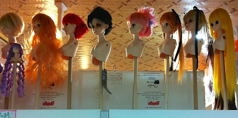 Shops catering to obscure hobbies like dollmaking sell everything from wigs to eyeballs.