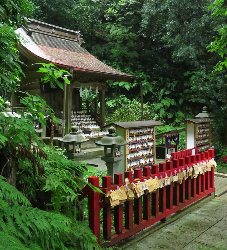 fox shrine to end all fox shrines! Just a short walk from Zeniarai Benten, it's an entire hillside devoted to...