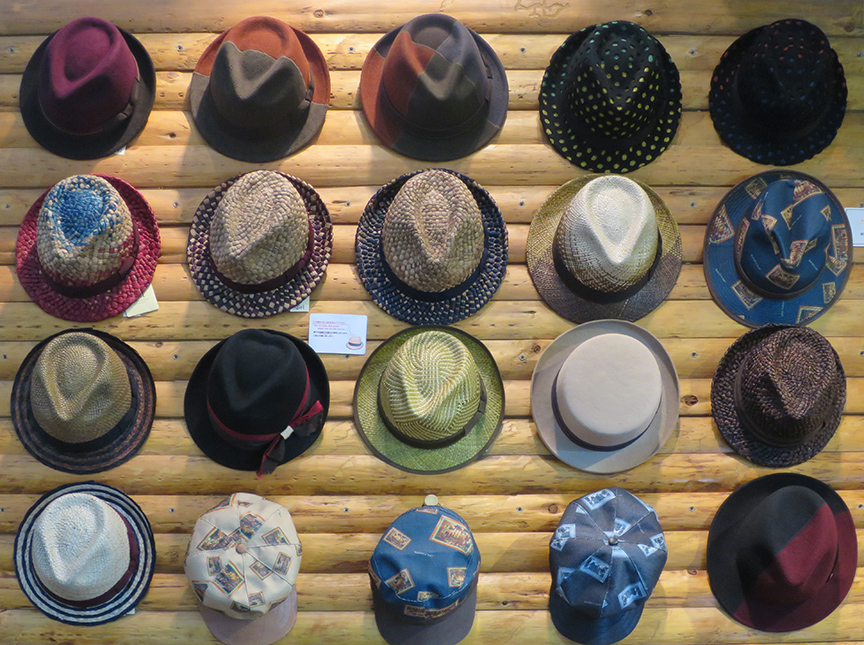 The artist who runs this hat shop uses traditional felting techniques to get unusual colors, patterns and textures.