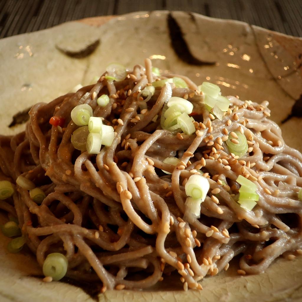 Creamy Sesame-Ginger noodles