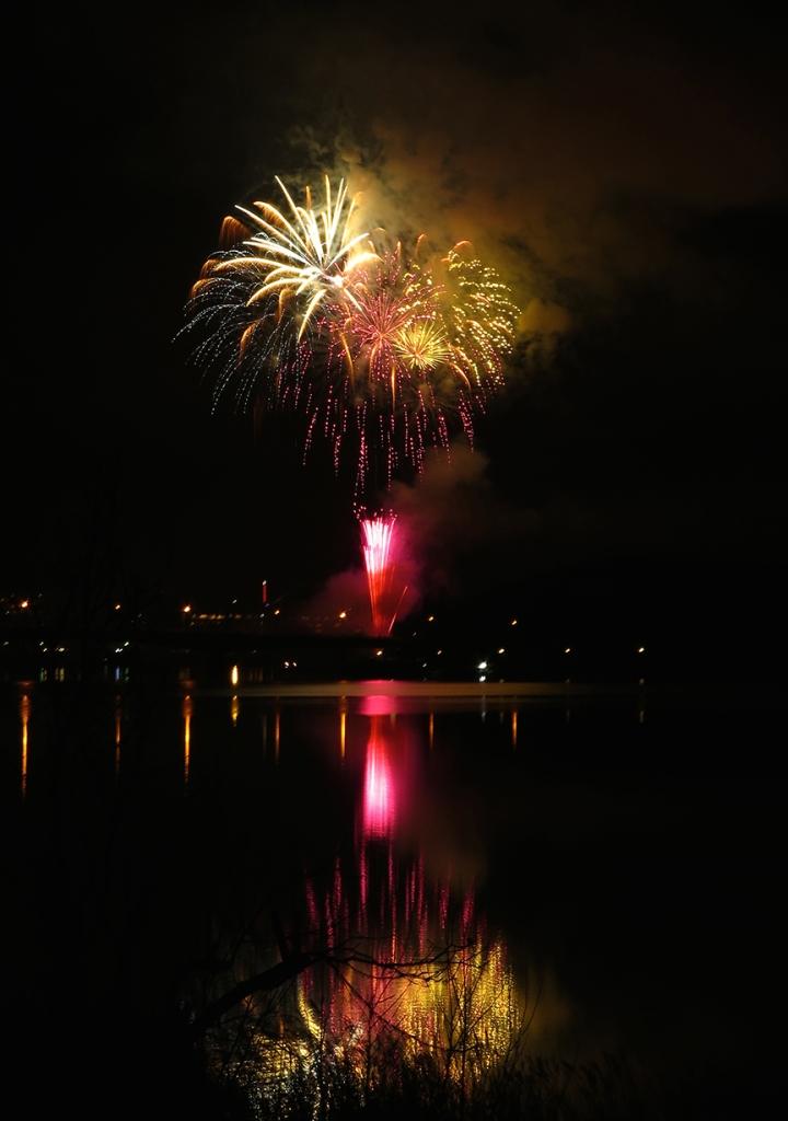 Fireworks over Kawaguchiko