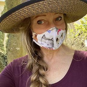 Photo of author wearing face mask