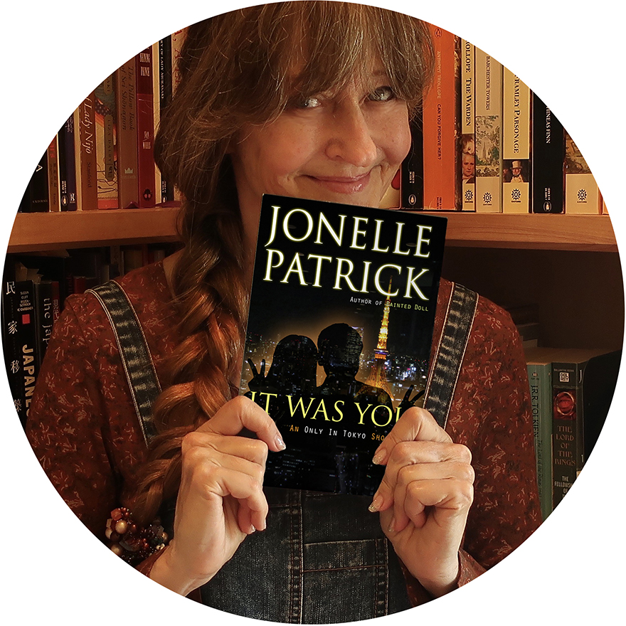 Author Jonelle Patrick with It Was You Only In Tokyo Short