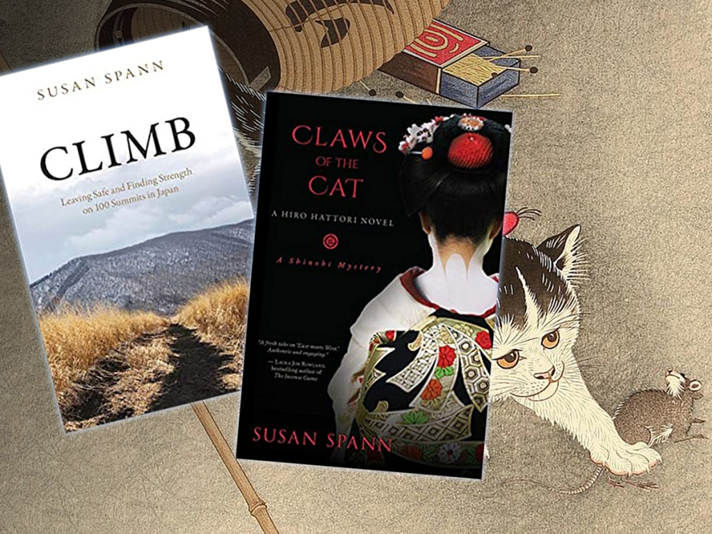 Covers of CLIMB and Claws of the Cat books by Susan Spann