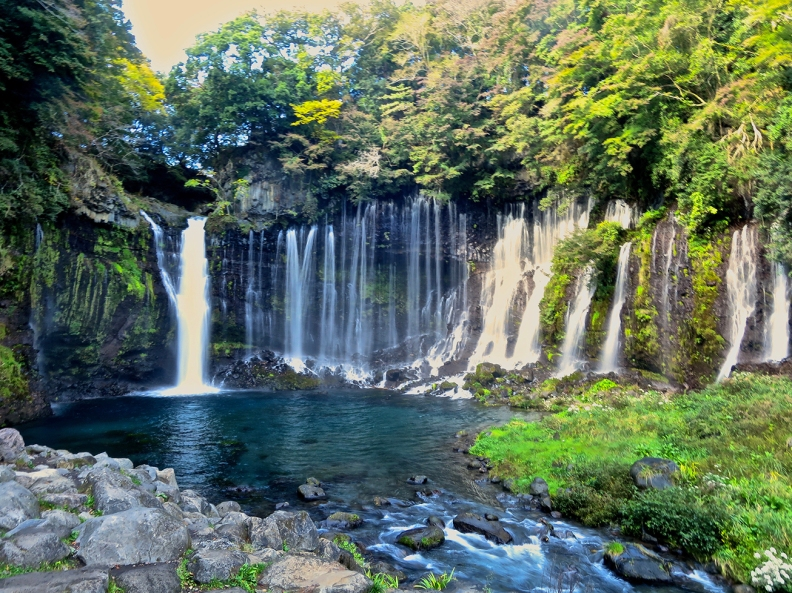 Shiraito-no-taki waterfall in Japan