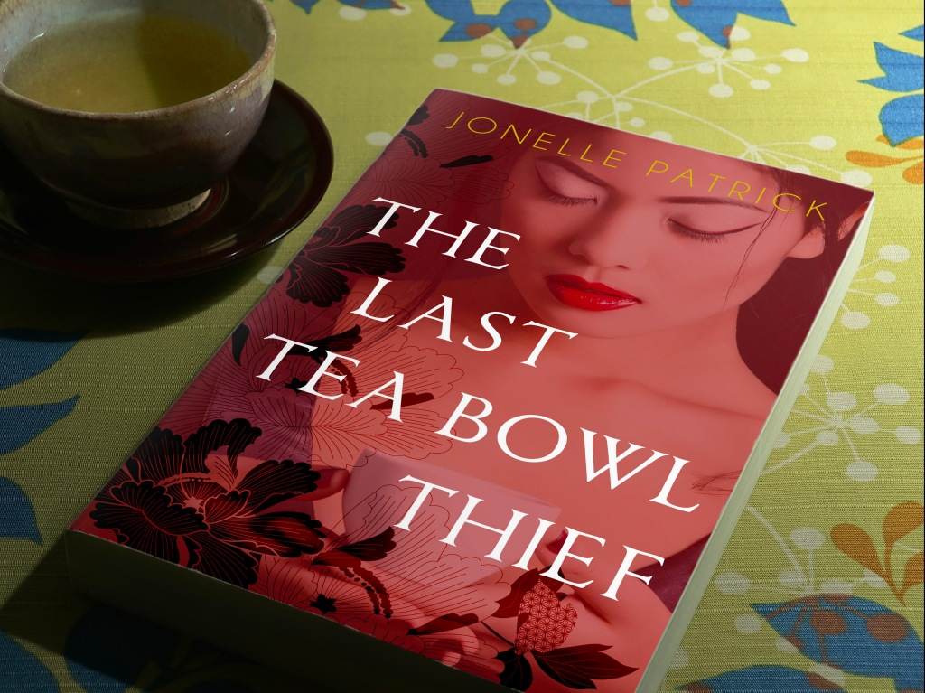 The Last Tea Bowl Thief book with green tea