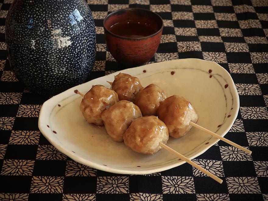 Chicken and ginger yakitori meatballs