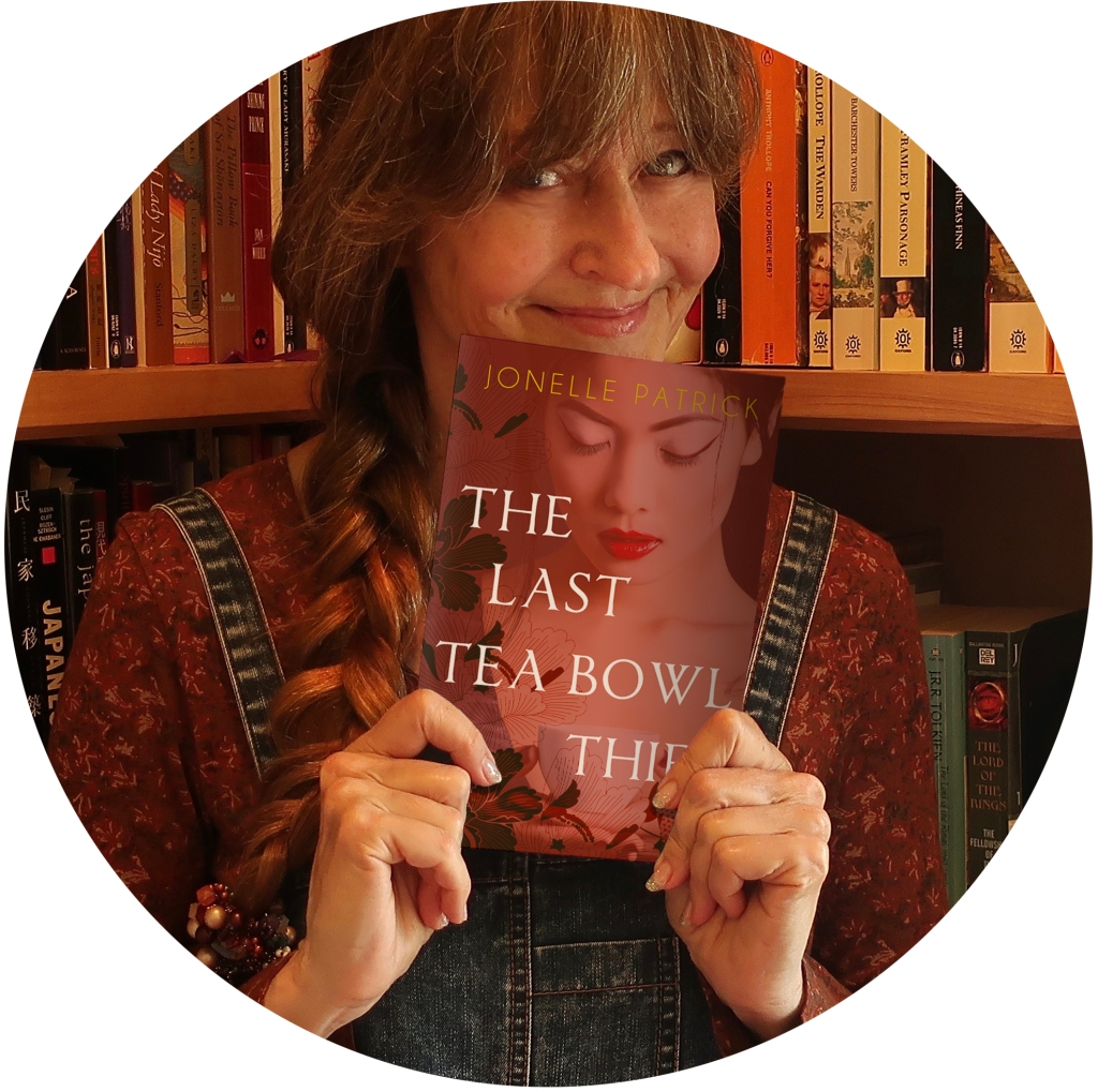 Author Jonelle Patrick with The Last Tea Bowl Thief